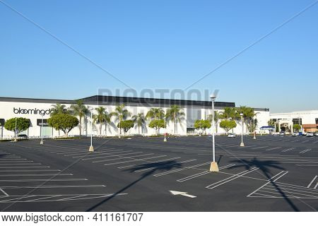 COSTA MESA, CA - DEC 1, 2017: South Coast Plaza. The largest mall on the west coast of the US, with about 2.8 million square feet and 250 shops.