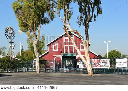 COSTA MESA, CA - DEC 1, 2017: Centennial Farm at the OC Fair and Event Center. Created to educate youth about agriculture and its importance to our daily lives.