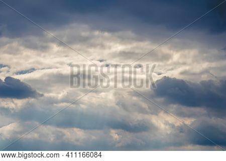 Dramatic Cloudscape, Dark Clouds, Big Storm, Before Heavy Rain