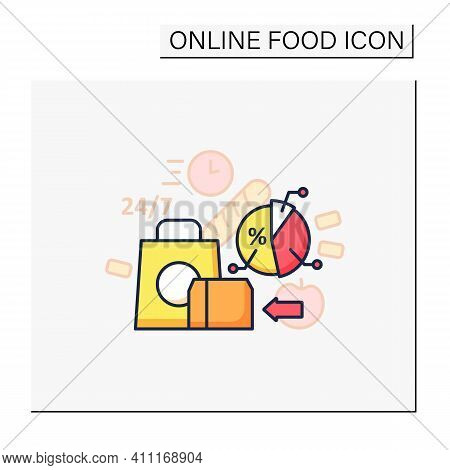 Ready-made Ration Color Icon. Delivery Service. Fast, Express Food Delivery And Other Goods. Quickly