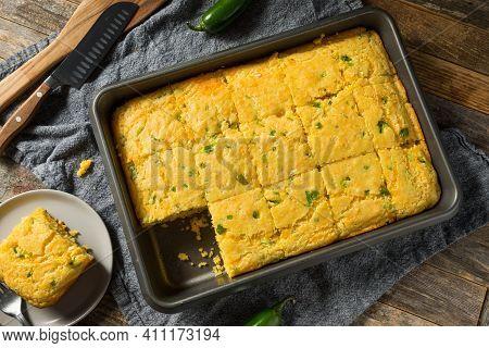 Homemade Spicy Jalapeno Cornbread