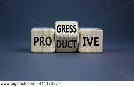 Productive And Progressive Symbol. Turned Cubes And Changed The Word 'progressive' To 'productive'.