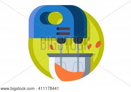Kitchen Dipping Mixer For Cooking Vector Illustration