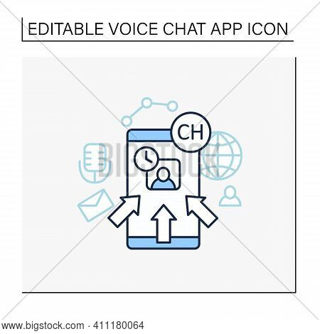 Rapid Popularity Line Icon. Rapid Growth User Popularity.arrows Point To Moderator. Communication Co