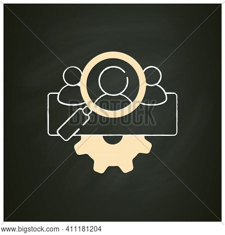 Management Team Identification Chalk Icon.searching For New Employees Or Partners. Enrollment Employ