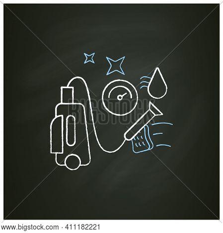 Pressure Washing Chalk Icon. Power Washing. Hydro-jet Cleaning. High-pressure Water Spray Usage To R