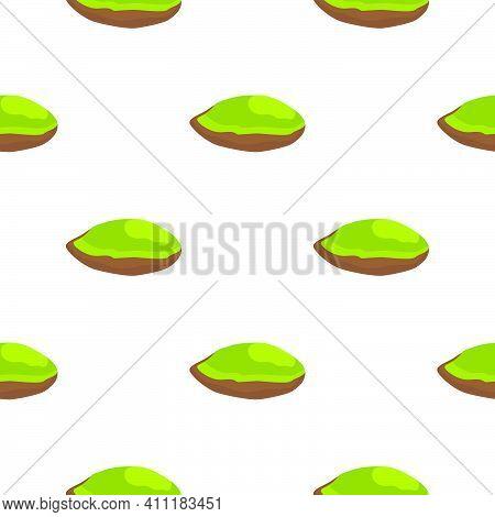 Illustration On Theme Big Pattern Identical Types Pistachio, Nut Equal Size. Pistachio Pattern Consi