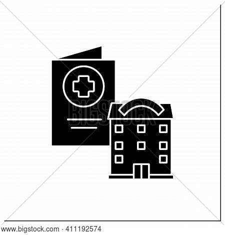 Health Passport Glyph Icon. Necessary Document About Health Status. Vaccinated Card. Necessarily In