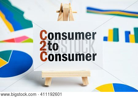 C2c Concept. Consumer To Consumer On The Plate.