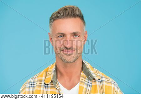 Kind Smile. Bristle And Facial Hair. Natural Beauty. Man Attractive Well Groomed Facial Hair. Barber