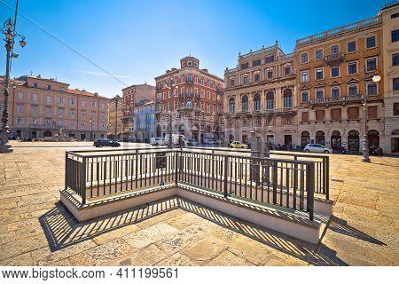 Ponte Rosso Square In Trieste Architecure View, City In Friuli Venezia Giulia Region Of Italy