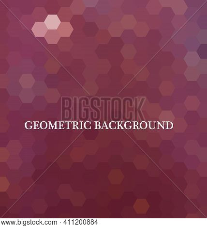 Burgundy Vector Modern Geometric Abstract Background. Texture, New Background. Geometric Background