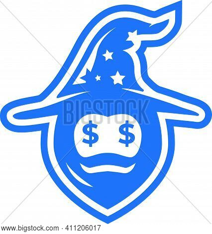 Stars Magic And Face Shaggy With Logo Design Dollars Abstract Blue