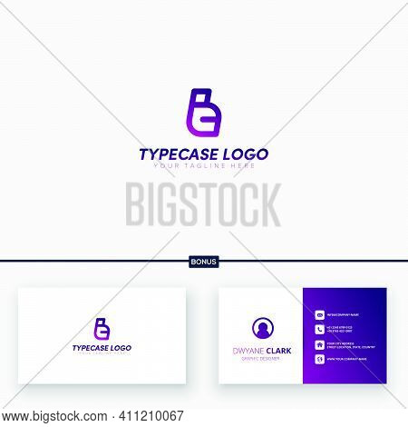 Type Case Logo With Initial T And C Logo Designs And Business Card