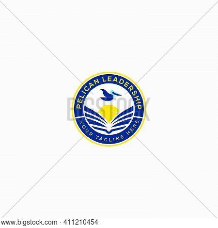 Badge Pelican Leadership Logo Designs Study Logo