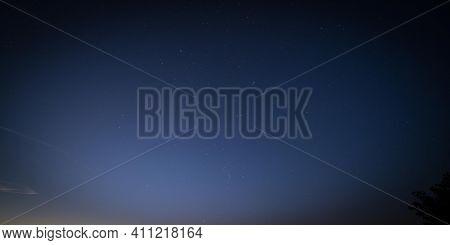 Night sky panorama high quality photo