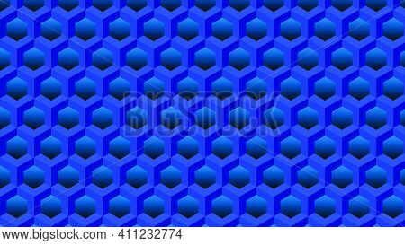 Abstract Background Of Blue Figures - Vector