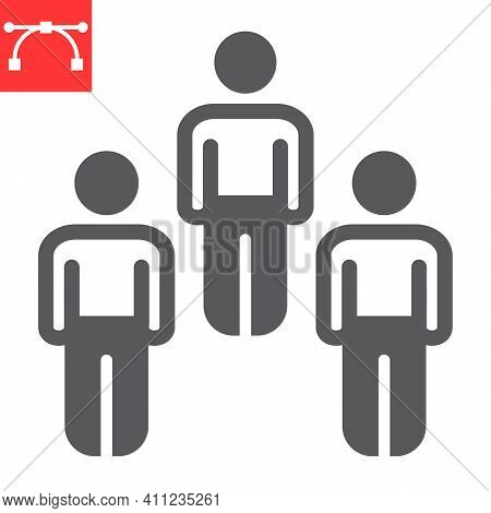 Herd Immunity Glyph Icon, Social And Community, People Vector Icon, Vector Graphics, Editable Stroke