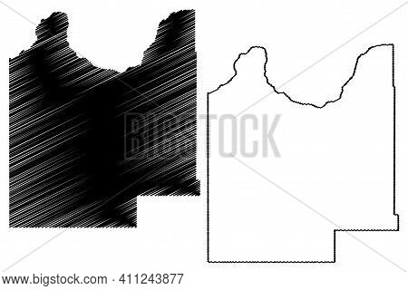 Roger Mills County, Oklahoma State (u.s. County, United States Of America, Usa, U.s., Us) Map Vector