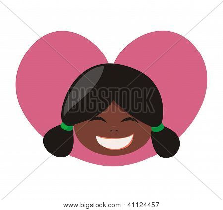 I love my laughing black african girl. Sweet, lovely and happy with black hair tied in a ponytails