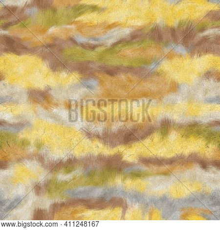 Seamless Faux Digital Paint Stroke Camo Print