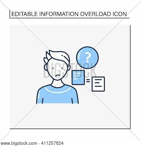 Comparative Research Method Line Icon.lack Of Method For Comparing Information.compare New Informati