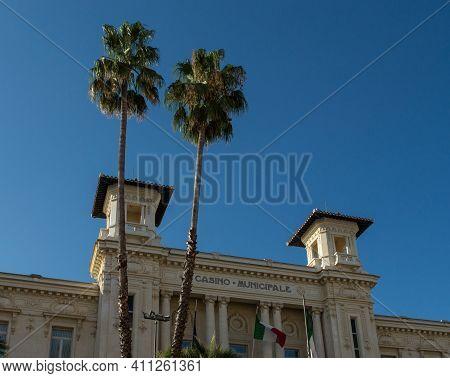 View Of The  Municipal Casino Of Sanremo