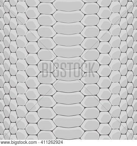 Decorative Gray Linear Monochrome Reptile Snakeskin Texture