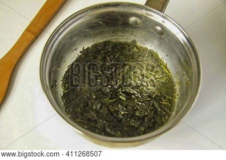For Green Dough, We Need Greens. Spinach Is Ideal, But I Have A Combined Greens - These Are Parsley,