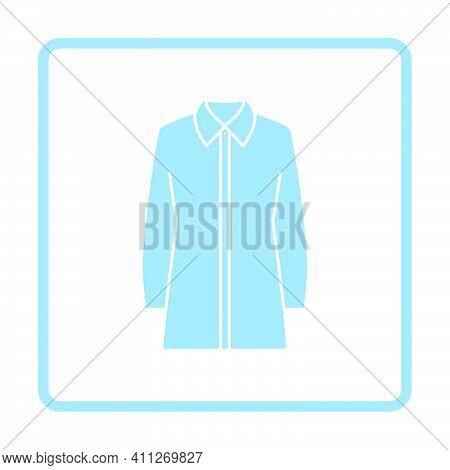Business Blouse Icon. Blue Frame Design. Vector Illustration.