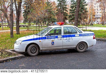 Samara, Russia - November 6, 2017: Russian Police Patrol Car Of The State Automobile Inspectorate Pa