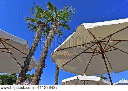 Ukraine, Odessa 07/29/2020. Ibiza Is A Legendary Odessa Club. Ibiza Has A Large Open-air Stage Where