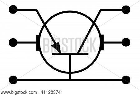 Illustration Pictogram Sign Transistor Schematic Image Logo