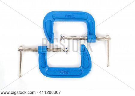 Clamp - Professional Tool For Clamping Objects Isolated On A White