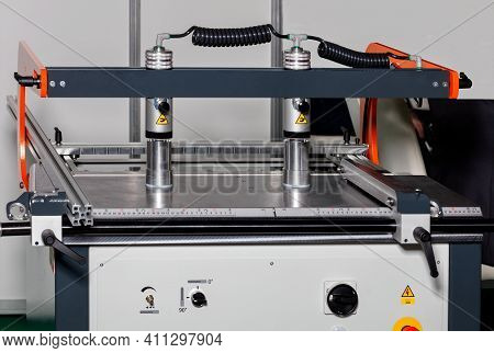 Pneumatic Clamps Of The Drilling And Filler Machine For Fixing Workpieces Of Any Size And Providing