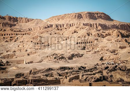 The Necropolis Of Sheikh Abd Al-qurna, Or The Valley Of The Nobles, On The Western Bank Of The Nile,