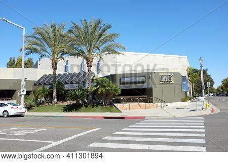 ANAHEIM, CALIFORNIA - 1 MAR 2021: River Arena, The River Church is a Hispanic Ministry in Downtown Anaheim.