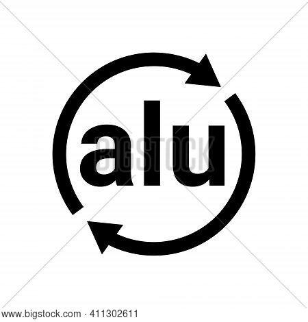 Aluminium Recycling Code Icon. Alu Logo Sign Vector Symbol