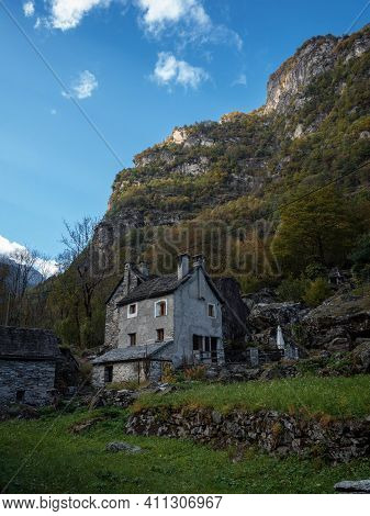 Panorama View Of Charming Historic Village Hamlet Ritorto With Rustico Architecture Stone Rock House