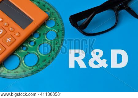 Blue Background Written With R&d Stands For Research And Development