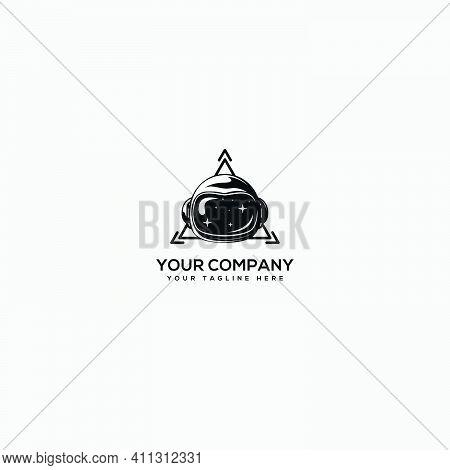 Tech Logo, Astronaut Logo, Helmet Astronaut And Triangle Tech Logo