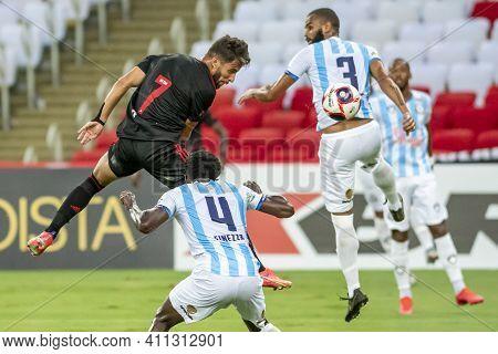 Rio, Brazil - March 06, 2021: Pepe Player And Milton Rafael Goal Keeper In Match Between Macae V Fla