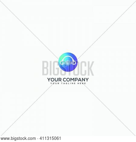 Headphone Therapy Logo, Music Therapy, Simple Therapy Music Logo