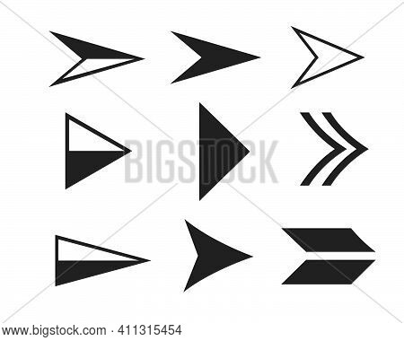Arrow Vector Illustration Icon Logo Of Delivery And Logistic