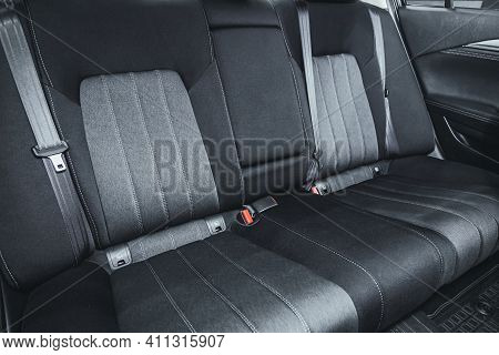 Novosibirsk, Russia - March 03 2021: Mazda 6, Comfort Car Inside. Clean Car Interior: Black Back Sea
