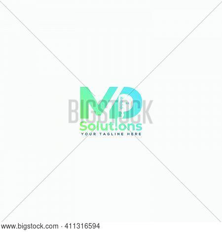 Health And Medical Infuse Letter Md Logo Design