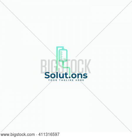Health And Medical Infuse Logo Design Medicine