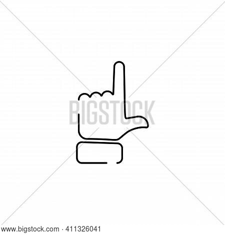 Abstract Flat Style Line Icon Hand Emoji Emoticon Direction