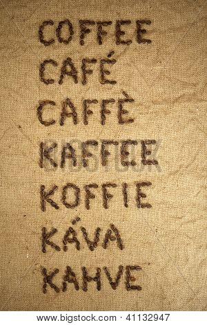 Multilingual word coffee