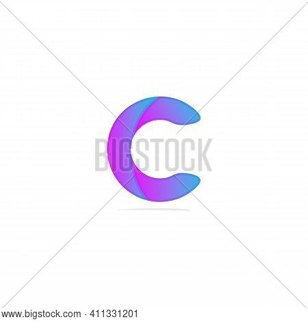 Abstract Letter Logotype C. Suitable For Trademarks, Company Logos, And Others. Vector Illustration